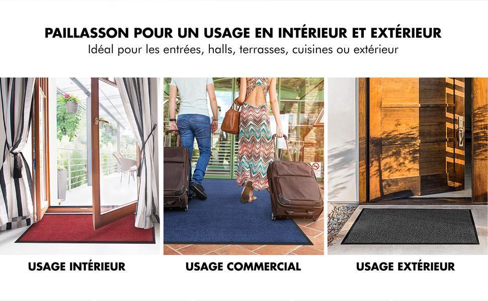 tapis vinyle pvc extérieur intérieur dos antidérapant glissement du tapis anti-uv simple confortable