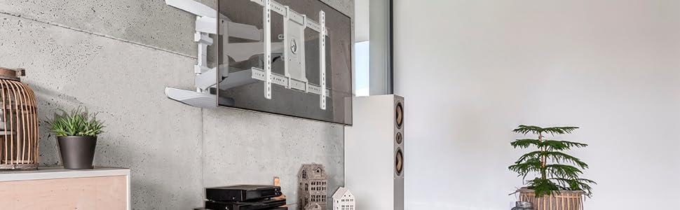 ONKRON M6L BLK Support TV Mural pour Téléviseur LCD LED OLED Plasma