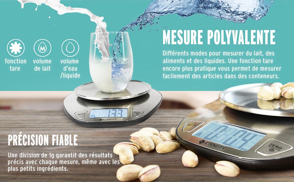 Etekcity Balance de Cuisine Electronique 5 kg, Grand Ecran ...