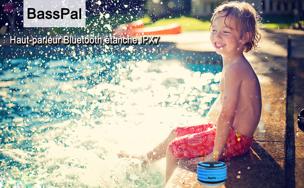 BassPal Radios de Douche, Enceinte Bluetooth IPX7