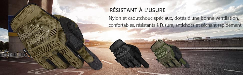 Combat Motocross descalade,Randonn/ée et Protection des Autres Activit/és en Plein FREE SOLDIER Gants de Moto Gants de Scooter Tactique Unisex id/éaux pour Auto Moto,V/élo