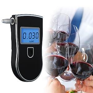 CodomoxoPolice Alcootests Num/érique Dalcool/émie D/étecteur Gadgets Professionnel Alcootest Portable Alcool Testeur