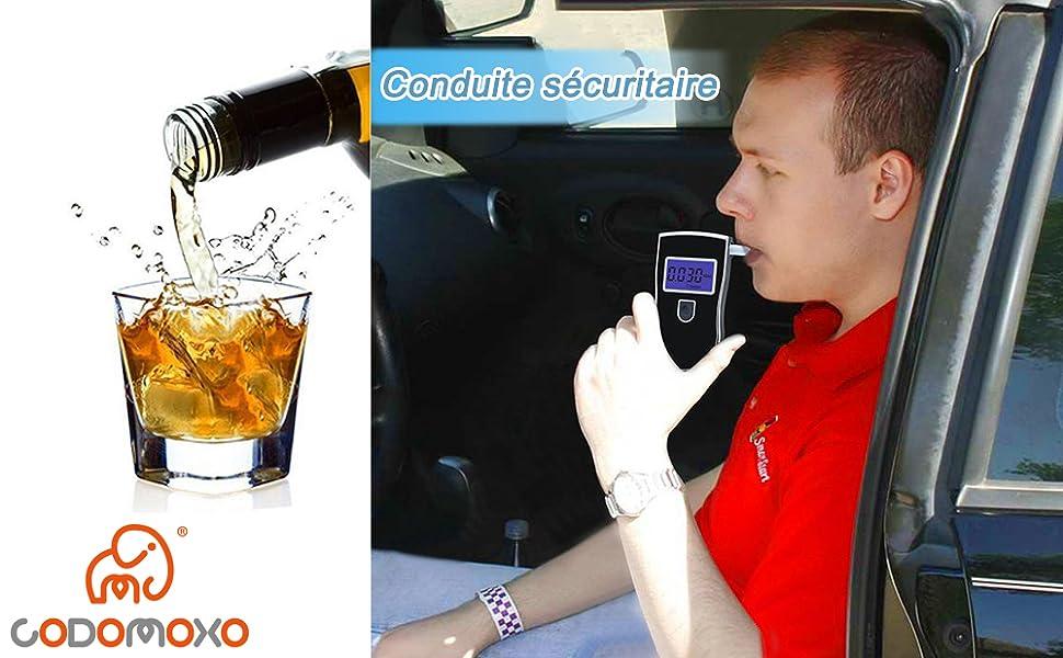 Alcootests Accessoires auto CodomoxoPolice Alcootests Numérique Dalcoolémie Détecteur Gadgets Professionnel Alcootest Portable Alcool Testeur