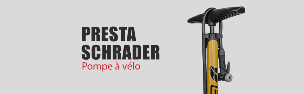 Vélo Pompe à pied avec jauge Universel Presta /& Schrader Valve Mini Vélo Pneu C5D5
