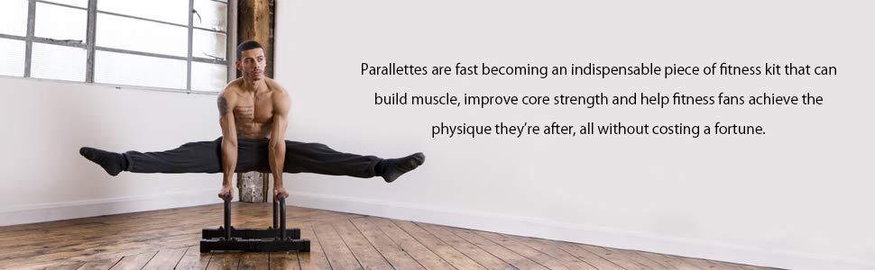 Gravity Fitness Parallettes - Medium - Nouvelles poignées de 38 mm ... 0d272cd1da6