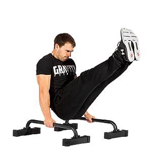 Gravity Fitness Small Pro Parallettes 2.0 - Nouvelles poignées de 38 ... b03858fa8d4