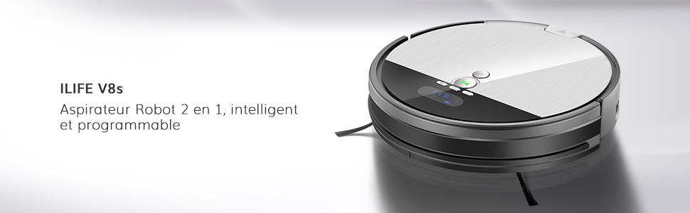 Ilife V8s Aspirateur Robot, Nettoyage Planifié, Techonogie