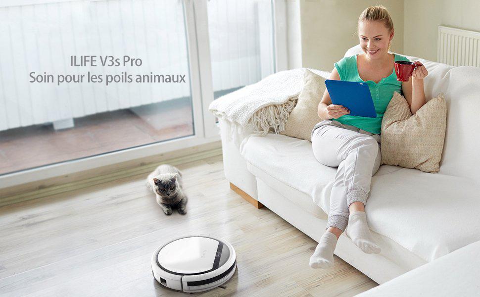 ILIFE V3s Pro,Idéal pour les poils animaux