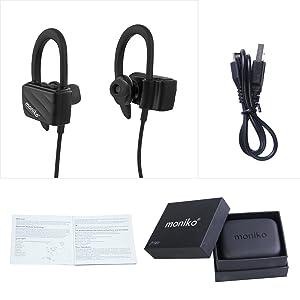 Oreillette Bluetooth 4.1 Écouteurs Bluetooth Sans Fil avec Micro hanmir Oreillette Étanche IPX4