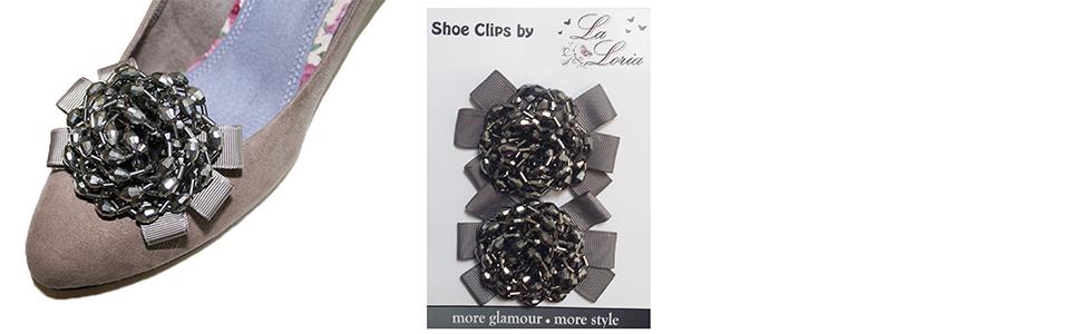 La Loria Clips pour chaussures Circle Amovible Accessoires Bijoux de chaussures 2 pc