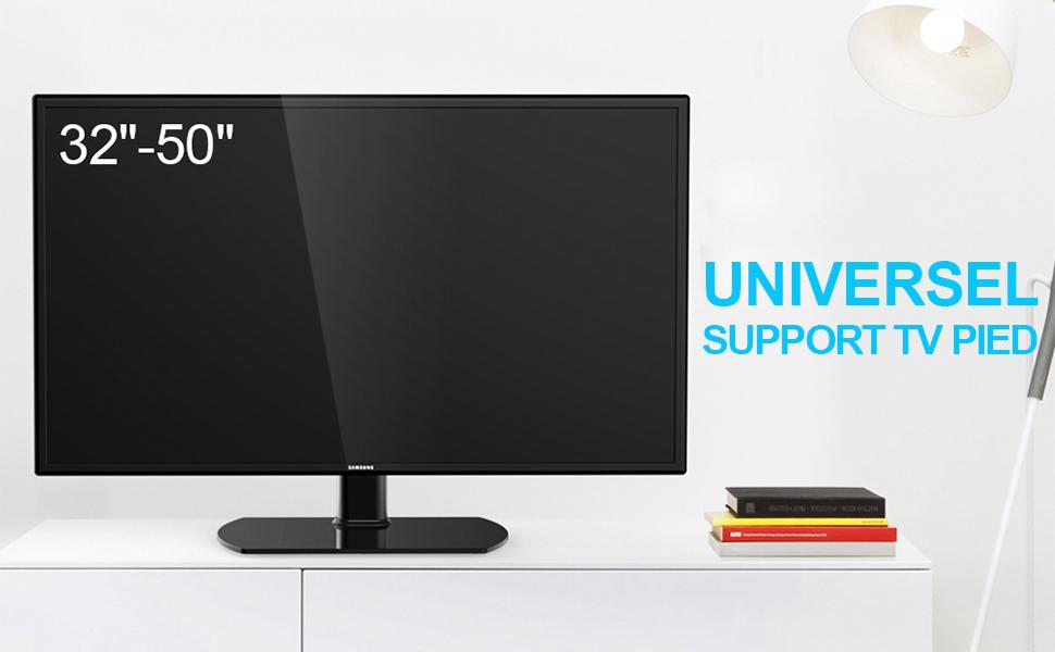 8d43de4f64d033 Fitueyes Support Télé Pied Pivotant sur Table pour TV DE 32 à 50 Pouce LED  LCD Ecran Plasma TT104501GB