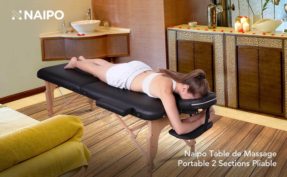 naipo table de massage pliante professionnelle cosm tique portable lit table de beaut canap. Black Bedroom Furniture Sets. Home Design Ideas