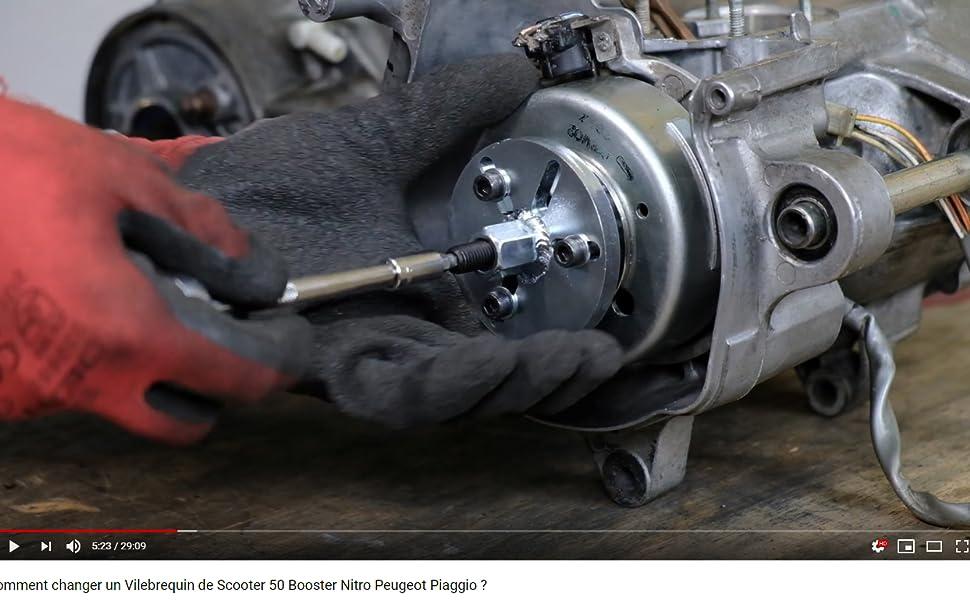 Arrache volant allumage 3 trous Booster Nitro Stunt et rotor interne 2 trous PVL