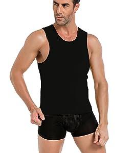 MUYCO Sauna Gilet Hommes Body Shaper Hot Sweat Workout D/ébardeur Minceur N/éopr/ène Perte De Poids Ventre Graisse Br/ûleur