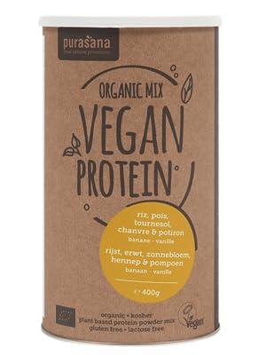 Mix Vegan proteines lunares/Arroz/cáñamo/Semillas de girasol/Semillas de calabaza/riñonera/vainilla Bio 400 g