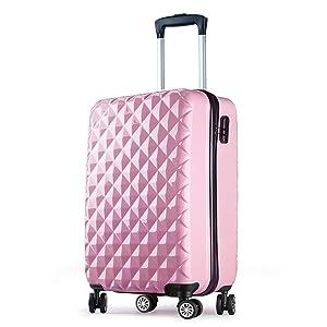 valise cabine 55 cm abs bagage cabine rigide 4 roues avion. Black Bedroom Furniture Sets. Home Design Ideas