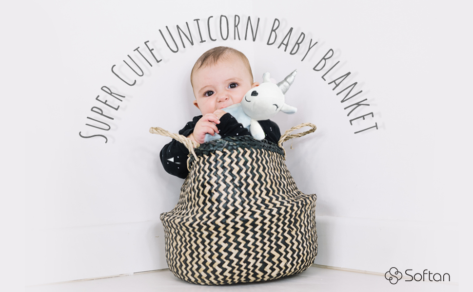 Couverture de b/éb/é Softan motif licorne pour le confort et la s/écurit/é de b/éb/é jouet pour b/éb/é peluche polaire adorable doudou chaud