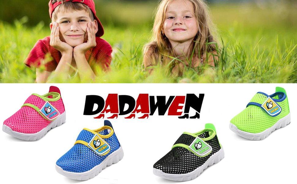 DADAWEN Chaussons Aquatiques Mesh Running Sneakers Sandales pour b/éb/é gar/çon Fille