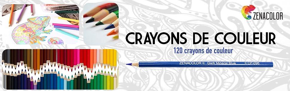 bo te de 120 crayons de couleur zenacolor 120 couleurs. Black Bedroom Furniture Sets. Home Design Ideas