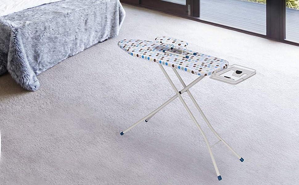 WOLTU BGT04 Planche /à Repasser avec Une Planche de Manche,Table /à Repasser Motif Point