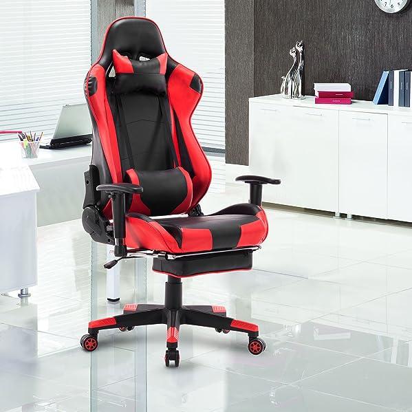 Bs14rt De Fauteuil Woltu® design Fonction Racing Avec Pieds Ergonomique Gaming Réglable Repose Et Chaise Tête Bureau Pour ON8Pnywvm0