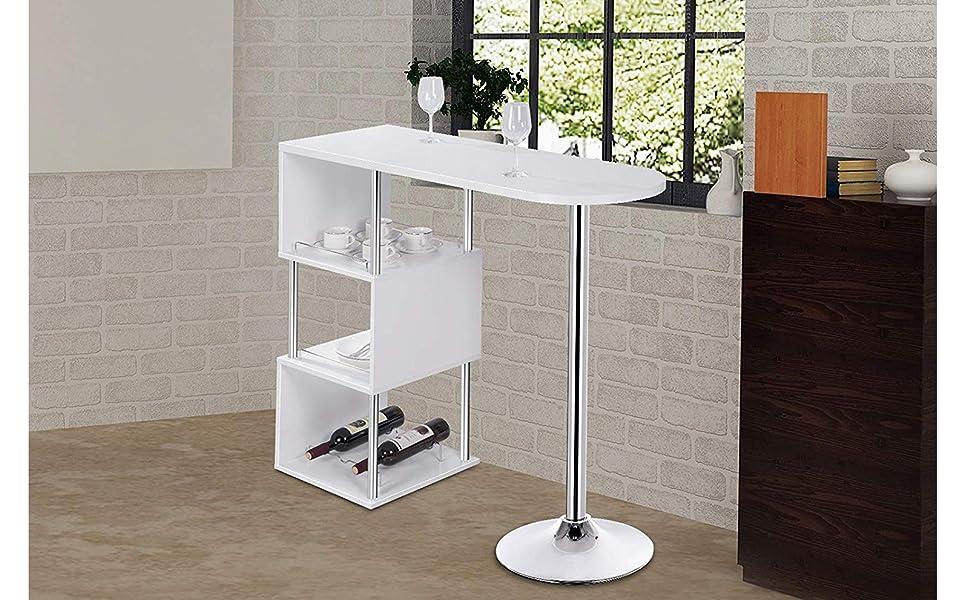 Ameublement Et Décoration Woltu Bt22ws Table De Bar Bistrot