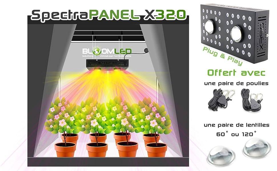 Lampe Led Plugamp; 320w X Complet 120cm De Horticole Vendu Booster Play OsramCree 80cm … Maximum X320 Pour Floraison 80XNnZwkOP
