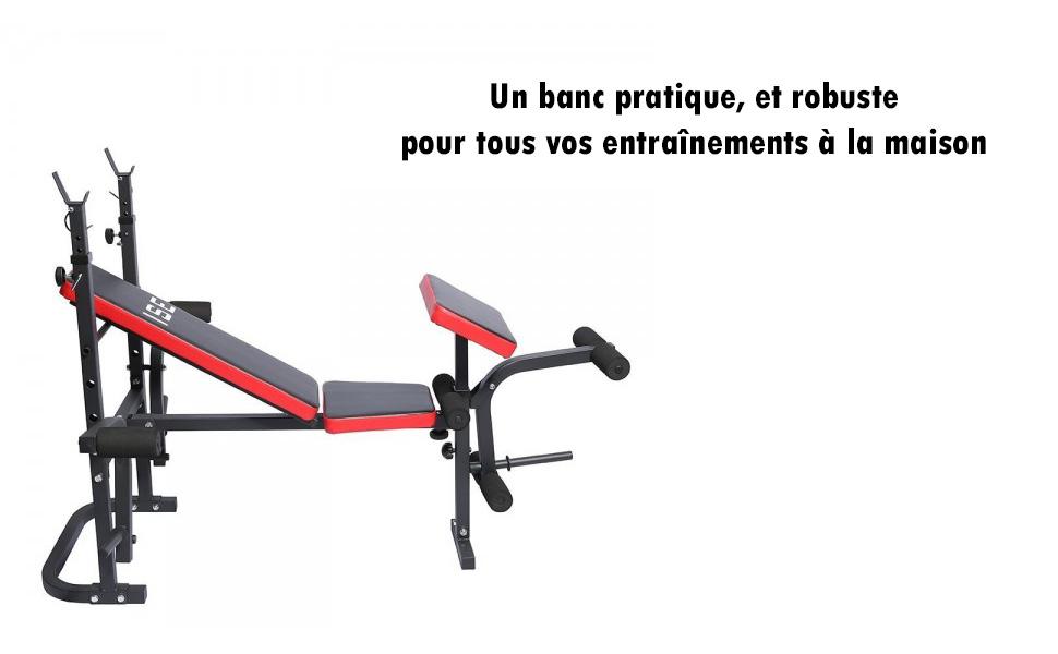 ISE Banc de Musculation Multifonction R/églable Pliable Inclinable Fitness pour Entrainement Complet SY-5430B