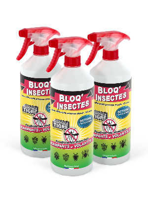 Lot de 3 répulsifs anti-insectes BLOQ'INSECTES 3x1 L