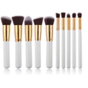 leisial Pinceaux Maquillage Professionnel Teint Femmes pas cher blanc