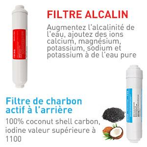 Cartouche De Remplacement De Filtre /À Eau T33 /À Charbon Actif Granulaire pour Eau De Boisson Syst/èmes Dosmose Inverse,T33*1