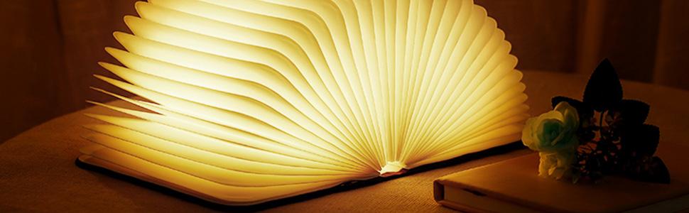 Livre 2500mah blanc Chevet En lampe De D'ambiance Pliante Forme Avec BatteriesPort veilleuse Livre Led Lampe Usb Lumières Décoratives f7gIYb6yv