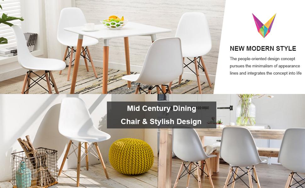 VECELO Chaise Salle à Manger Scandinave Design Moderne