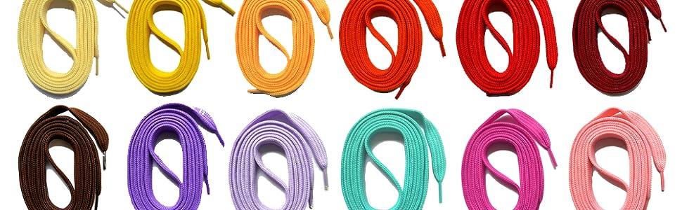 Baskets Plats /à Lacets pour remplacer Vos Chaussures Solid Color strimusimak 1 Paire de Lacets Luminous pour Enfants et Adultes