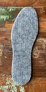 Semelles pour chaussures dhiver Taille 35-47 Semelles super chaudes en laine SULPO Lot de 2 paires de semelles en feutre avec laine de mouton