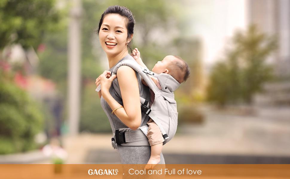 GAGAKU Ergonomique Avant et Arrière Respirant Porte-bébé avec Poches ... 9a9789e793c