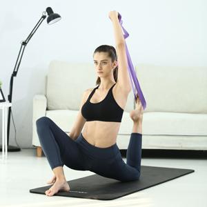 Lot de 2/sangles de yoga extra longues Coton durable Bouche r/églable avec anneau en D Pour /étirements souplesse physique et r/é/éducation 251/cm