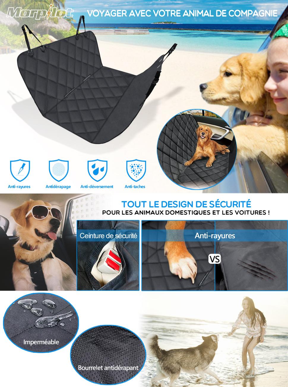 housse voiture chien chat morpilot protection de si ge auto imperm able anti rayures 2. Black Bedroom Furniture Sets. Home Design Ideas