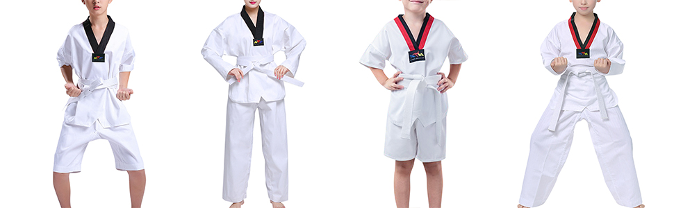 Combinaison Dobok Costume Coton Judo Performance Entra/înement Comp/étition Daytwork Sports V/êtements Enfant Adulte Unisexes Ensembles Taekwondo