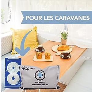 caravane caravanes absorbeur d' humidite et odeur in gel de silice