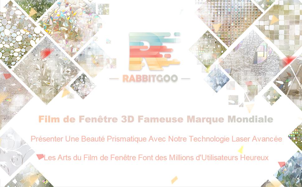 Rabbitgoo film pour vitre 3d non adhesif electrostatique for Film marocain chambre 13 komplett