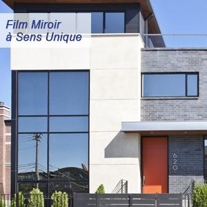 Rabbitgoo Film Miroir Fenêtre 90 200cm Sans Tain à Sens Unique