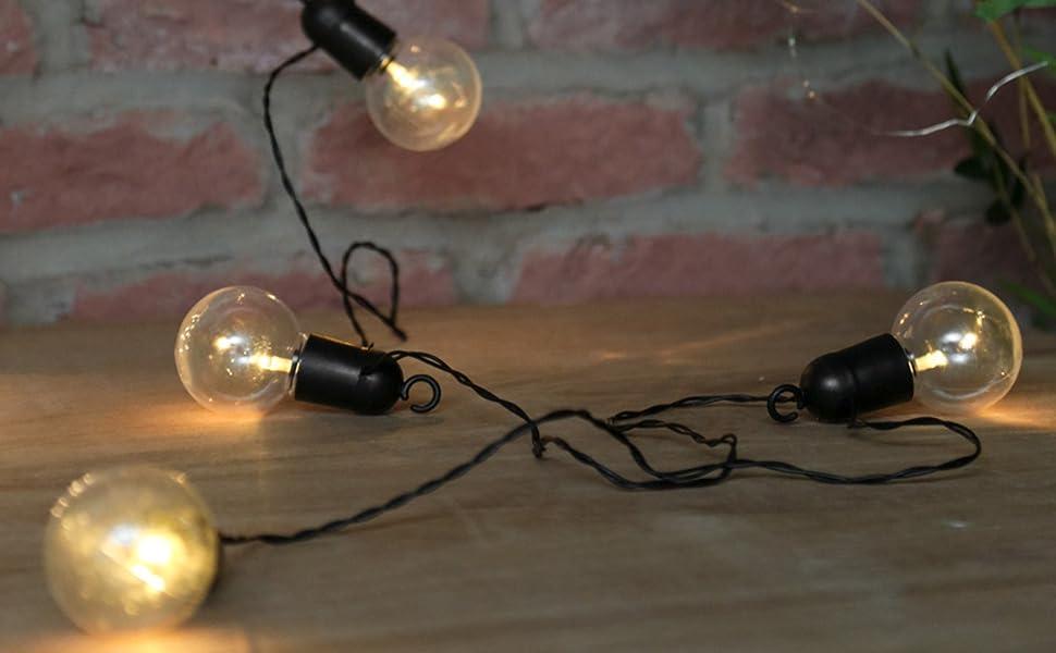 Guirlande Lumineuse Guinguette 10 Ampoules à Led Sur Câble