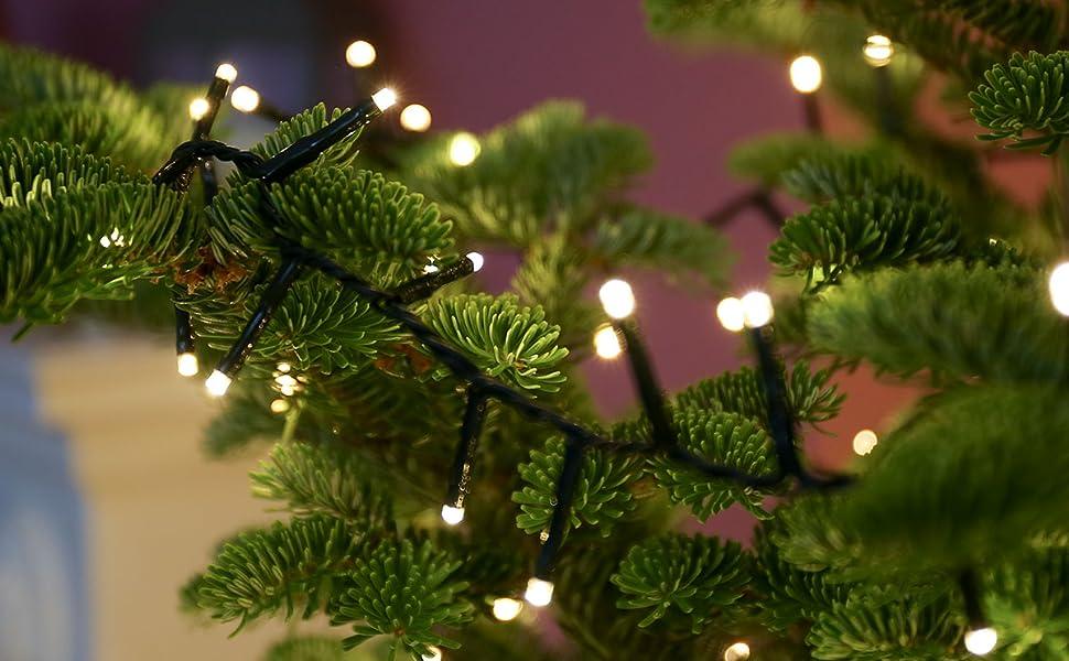 Guirlande De Noel Sapin Guirlande Lumineuse Sapin de Noël 10 Mètres   Couleur Au Choix