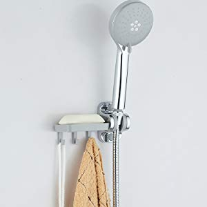 Lfhing Pantalon de douche en acier inoxydable l/éger et flexible pour salle de bain