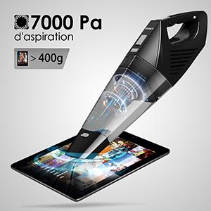 Charge Rapide avec Puissante Aspiration 7000PA