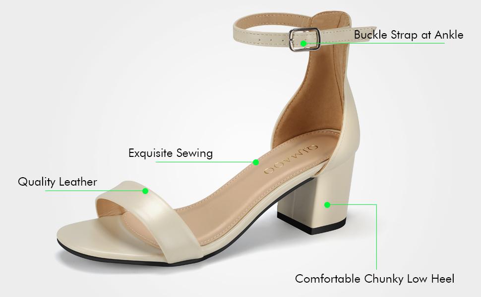 eff09b025ecc09 Vous vous sentirez à l'aise et à l'aise à chaque pas avec cette jolie  sandale à talons trapus! Les talons à bout ouvert sont conçus en cuir /  suède ...