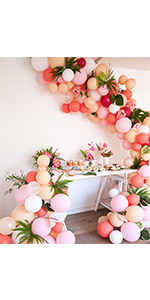 ballon rose pale, ballon blanc, ballon gris, ballon confettis or