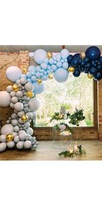 926a37df07f787 PartyWoo Ballon Blanc Dore Bleu, 50 pcs 12 Pouces Ballon Bleu Marine ...