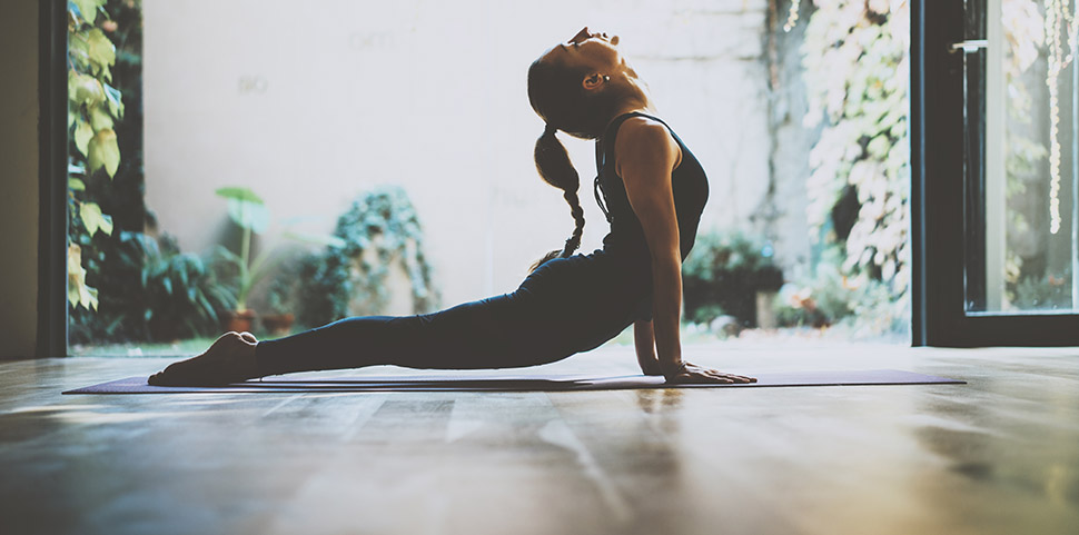Yoga Studio Sac de Yoga en Coton brod/é avec Poches de Rangement externes 71 x 23 x 18 cm
